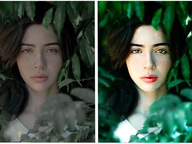 Retouch And Color Grading