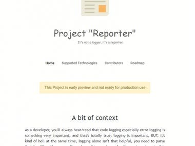"""Project """"Reporter"""""""