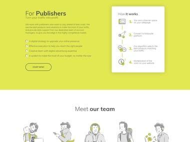 A Laravel Based Website for Digital Advertising Agency.
