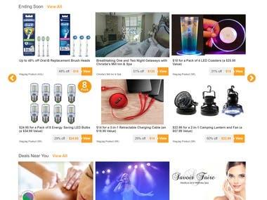 Online Deals Website.