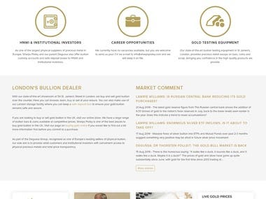 Magento Based Online Gold Store.