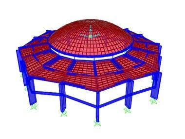 Radial Frame System Using Sap2000