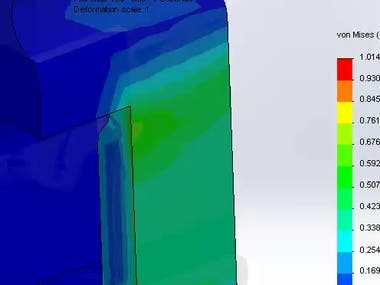 Nonlinear simulation of Snap-fit