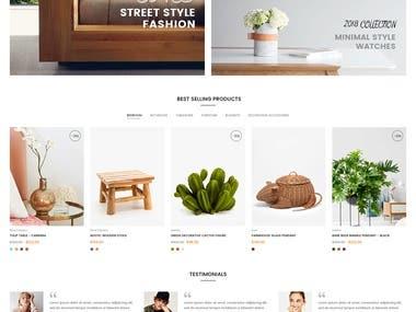 Shopify Site Build