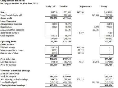 Preparation of Consolidated Financial Statement