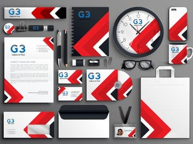 I can make corporate identity for you