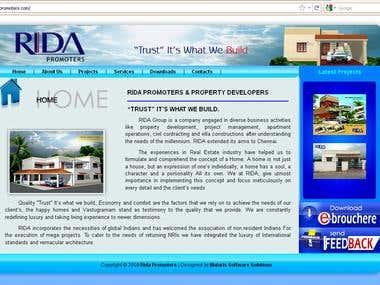 Wesite Design For Architecture and Design Company