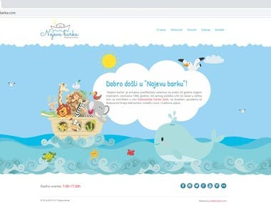 Website for kindergarten