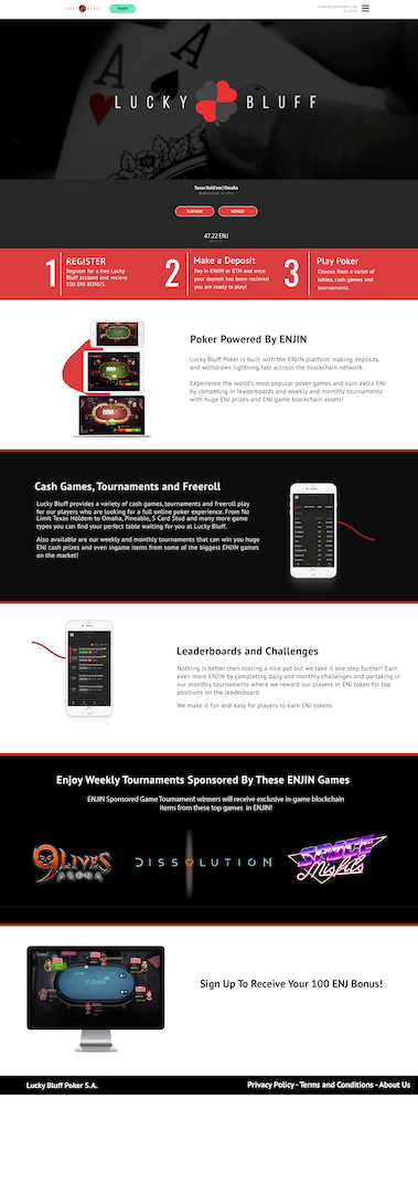 Poker Site UI Design