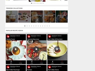 Recipe website