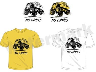 T-shirt design off road climbing jeep concept