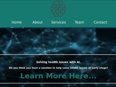 Artificial Intelligence Company website
