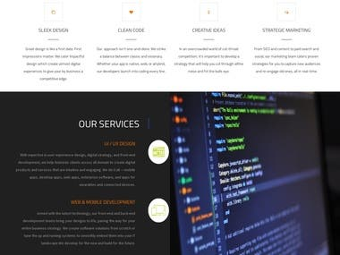 Corporate Identity IT website