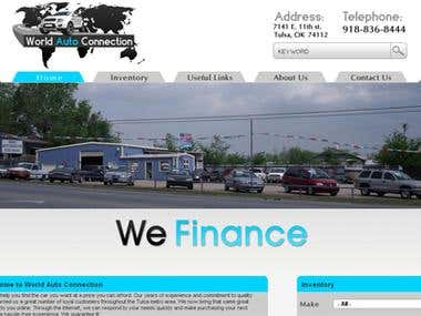 Corporate website for used car dealer