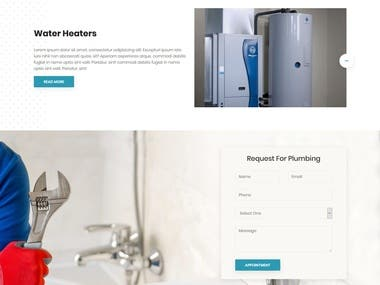 Plumbing responsive template