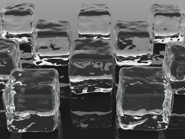 Ice cubes for visualization