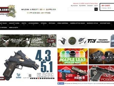 Magento E-commerce website design and development