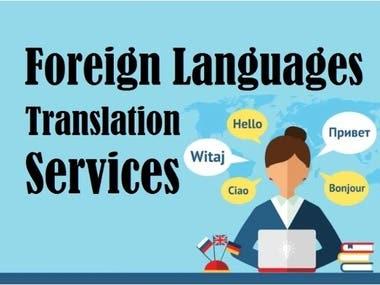 Language Translate Services