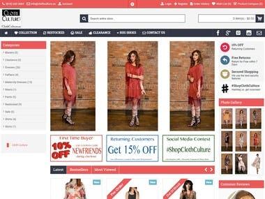 Opencart website design and development