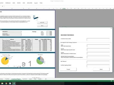 Excel investment Tool by VBA Advanced