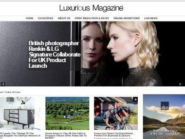 Magazine website design and development