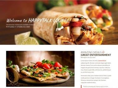 Restaurant booking site