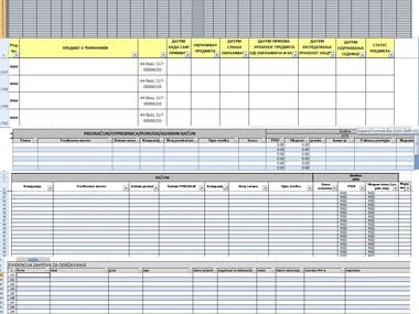 Excel spreadsheets for records and databases