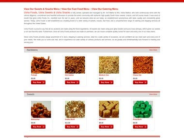 ONLINE STORE SELLING INDIAN SNACKS