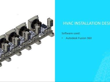 HVAC Installation designed in Fusion 360