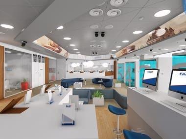 FAB Bank Interior design