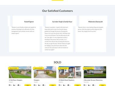 WordPress Real Estate website