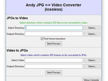 Andy JPGs to/from Video Converter