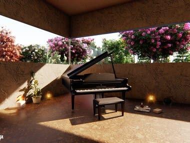 interior design & rendering (piano )