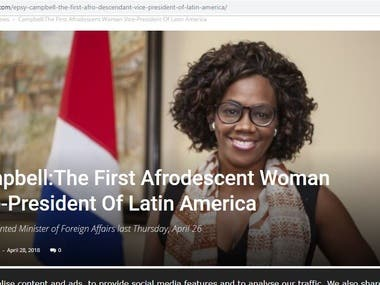 Campbell:The First Afrodescent Woman Vice-President Of Latin