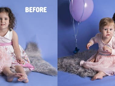 retouch and enhance photo