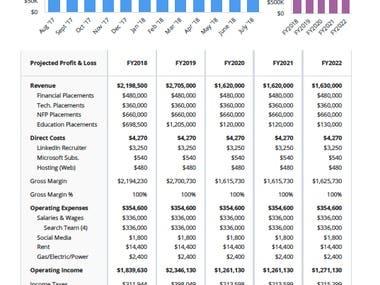 Business Plan; Financials