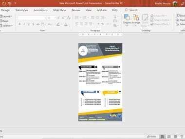 Create CV by PowerPoint