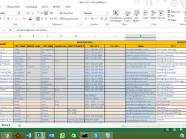 Data Entry Submission Task