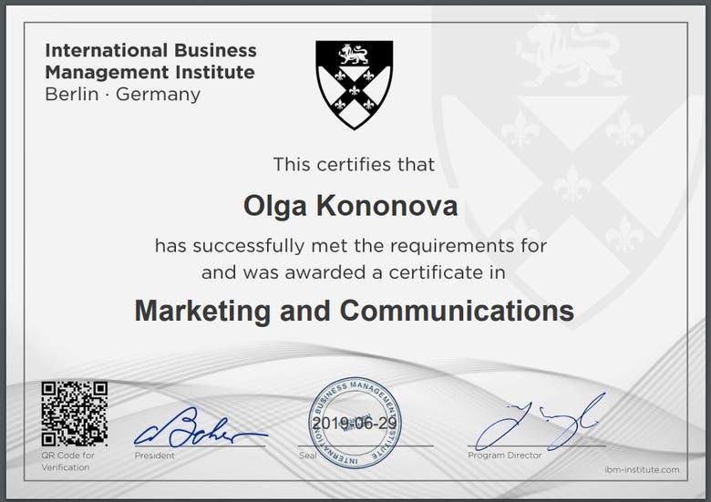 Marketing And Communication Certification Freelancer