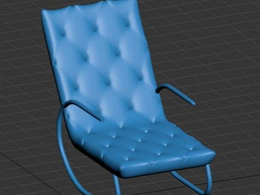 Furniture chair modeling in 3ds max