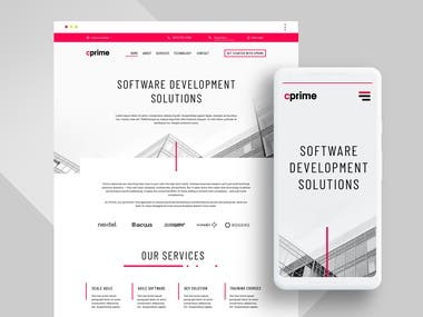Web design for Creative Firm