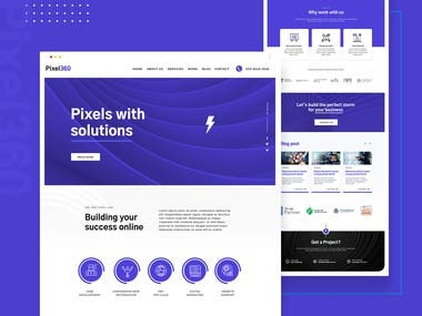 Landing page for web agency