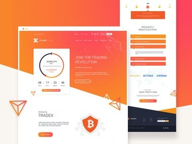 Web design for Fintech Cryptocurrency