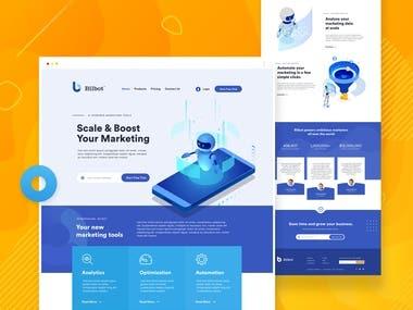 Landing page design for Marketing platform (SaaS)