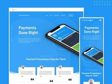 Web design for Payment platform (SaaS)