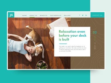 Web design for Contractor