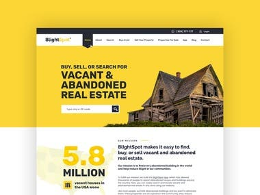 Landing page for Real estate app
