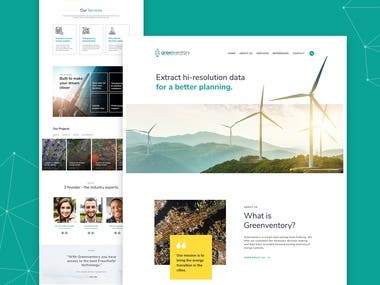 Landing page for Solar company