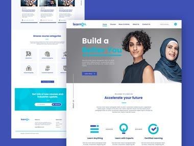 Web design for e-learning platform