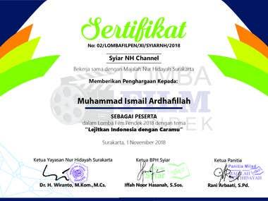 sertifikat nasional